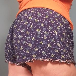 Mossimo Navy Blue Flower Shorts